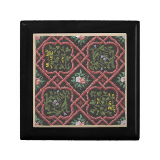 Entwurf für die Tapete, die Blumen und Gitter Schmuckschachtel