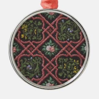 Entwurf für die Tapete, die Blumen und Gitter Silbernes Ornament
