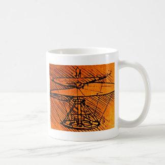 Entwurf für einen Hubschrauber Kaffee Tassen
