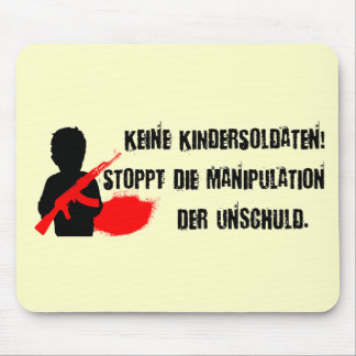 Entwurf für Kinderrechte: Keine Kindersoldaten! Mauspad