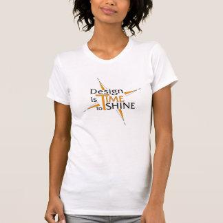 Entwurf ist Zeit zu glänzen Shirts