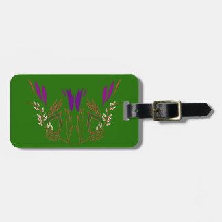 Entwurf Mandala Grün-Öko Kofferanhänger
