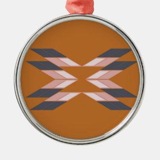 Entwurf Mandala ÖKO BROWN Silbernes Ornament