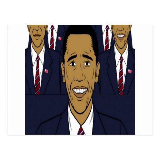 Entwurf Präsidenten Barack Obama Postkarten