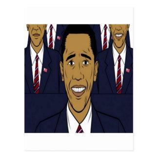 Entwurf Präsidenten Barack Obama Postkarte