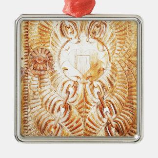Entwurf sehnen sich das Schnitzen Silbernes Ornament