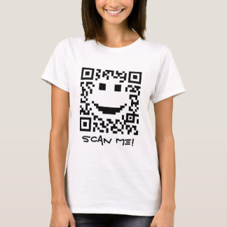 Entwurf smiley-Scan UPC QR T-Shirt