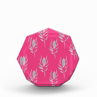 Entwurf versieht exotisches auf Rosa mit Federn Acryl Auszeichnung
