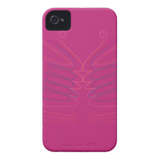Entwurf wings rosa ethno iPhone 4 Case-Mate hülle