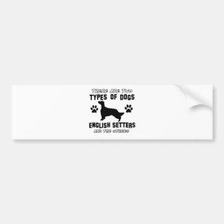 Entwürfe des englischen Setzers Hunde Autoaufkleber