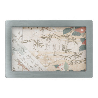 Entwürfe des Schreiben-Papiers mit Blumen Rechteckige Gürtelschnallen