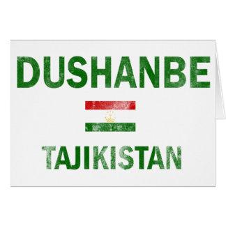 Entwürfe Dushanbe Tadschikistan Karte