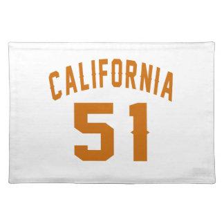 Entwürfe Kaliforniens 51Birthday Stofftischset