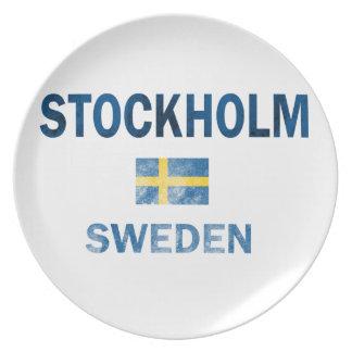 Entwürfe Stockholms Schweden Flache Teller