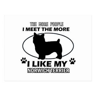 Entwürfe und Geschenke Norwichs Terrier Postkarte