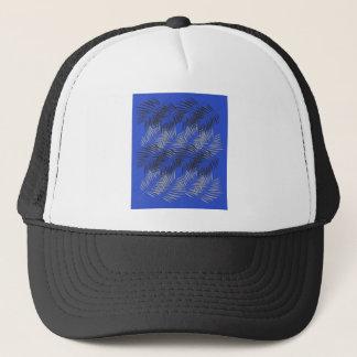 Entwurfs-blaue exotische Palmen Truckerkappe