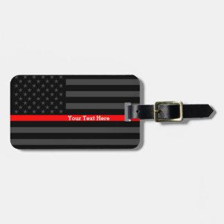 Entwurfs-dünne rote Linie personalisierte Gepäckanhänger