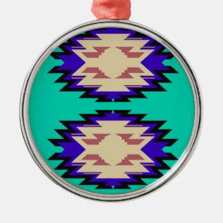 Entwurfs-exotische Azteken Silbernes Ornament