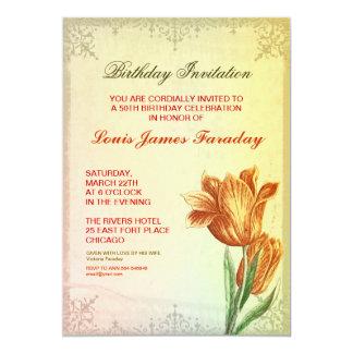 Entwurfs-Geburtstagseinladungen des 50. 12,7 X 17,8 Cm Einladungskarte