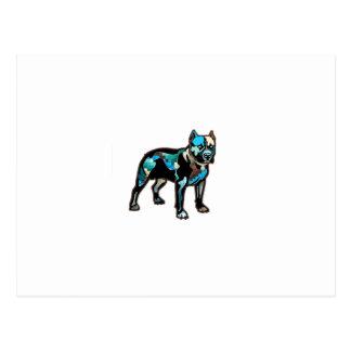 Entwurfs-Haustier-Hund Gruben-Stiers addieren Postkarte
