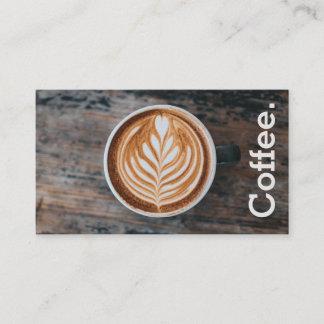 Entwurfs-Kaffee auf Tabellen-einfachem Treuekarte