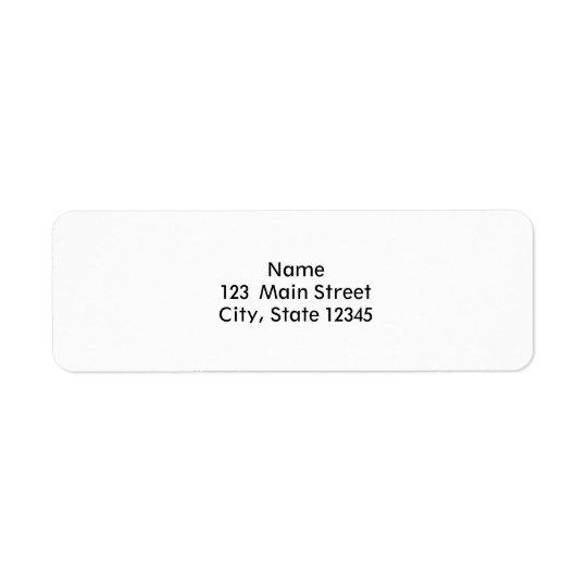 Entwurfs-kundenspezifischer Schablonen-freier Raum Kleiner Adressaufkleber