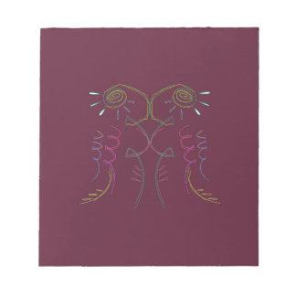 Entwurfs-Mandala Schokolade Notizblock