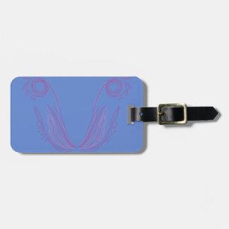 Entwurfs-Mandalablau Gepäckanhänger