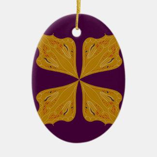Entwurfs-Mandalagoldwein ethno Keramik Ornament