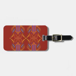Entwurfs-Mandalas-Ökobraun Gepäckanhänger