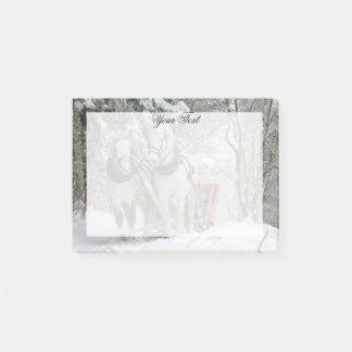Entwurfs-Pferdeweihnachten personalisiert Post-it Klebezettel