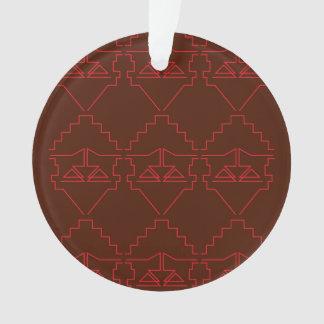 Entwurfs-Verzierungs-Azteken rotbraun Ornament