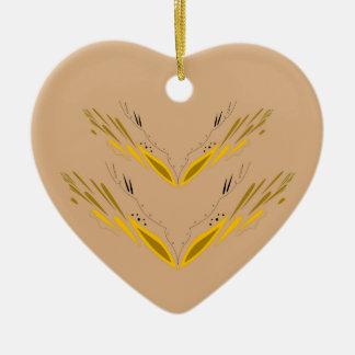 Entwurfselement-Beigegold Keramik Ornament