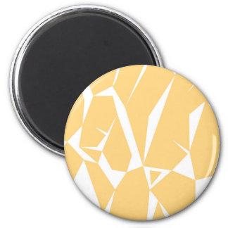 Entwurfselement-Goldweiß Runder Magnet 5,7 Cm