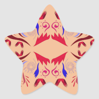 Entwurfselemente auf Beige Stern-Aufkleber