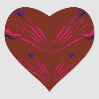 Entwurfselemente auf choco Herz-Aufkleber