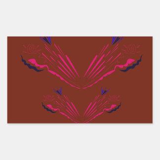 Entwurfselemente auf choco rechteckiger aufkleber