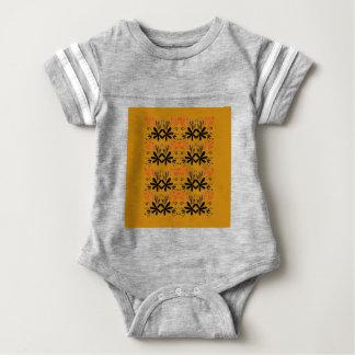 Entwurfselemente auf Gold Baby Strampler
