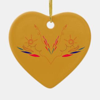 Entwurfselemente auf Gold Keramik Ornament