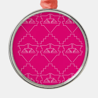Entwurfselemente auf Rosa Silbernes Ornament