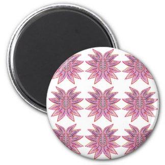 Entwurfselemente auf Weiß Runder Magnet 5,1 Cm