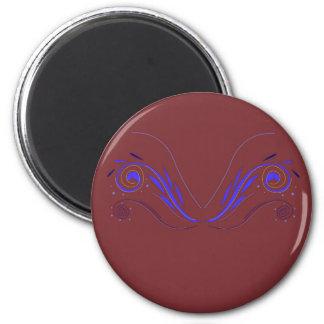 Entwurfselemente choco Blau Runder Magnet 5,1 Cm
