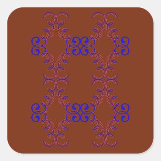 Entwurfselemente choco quadratischer aufkleber