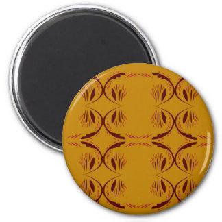 Entwurfselemente Gold Runder Magnet 5,7 Cm