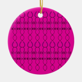 Entwurfselemente rosa ethno keramik ornament