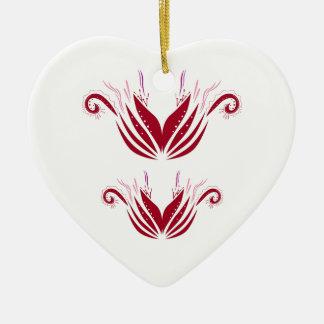 Entwurfselemente rot auf Weiß Keramik Ornament