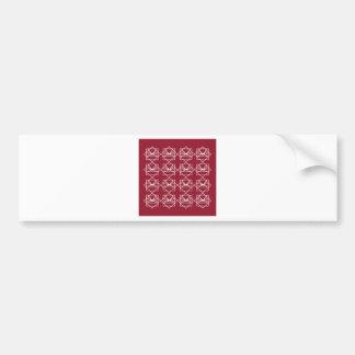 Entwurfselemente weißes ethno Rot Autoaufkleber
