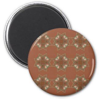 Entwurfselementschokolade Runder Magnet 5,1 Cm