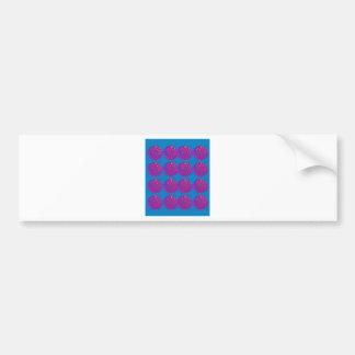Entwurfsgranatäpfel köstliches Blau Autoaufkleber