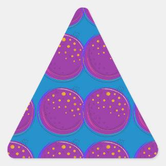 Entwurfsgranatäpfel köstliches Blau Dreieckiger Aufkleber